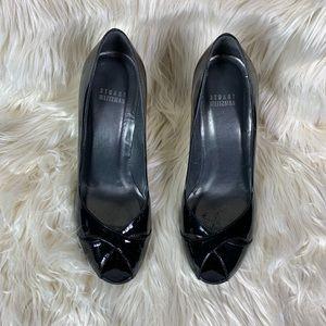 Stuart Weitzman heels open toe black size 9